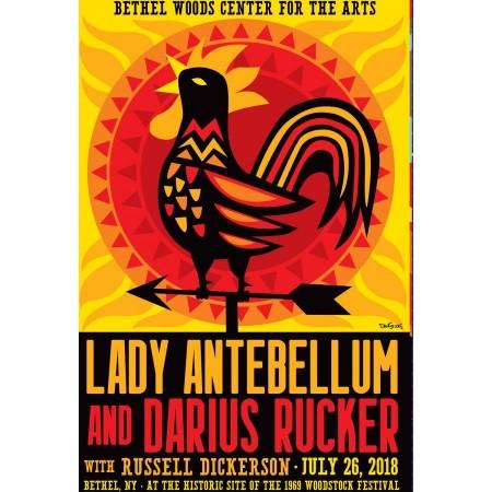 2018 Concert Posters-Lady Antebellum and Darius Rucker