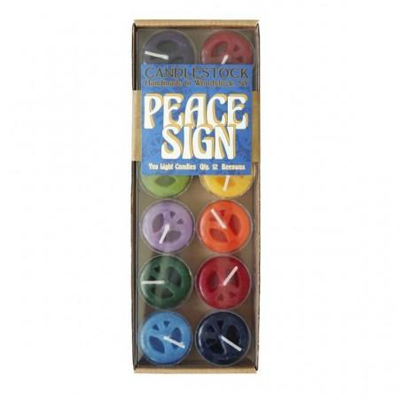 Peace Sign Tea Light Packs