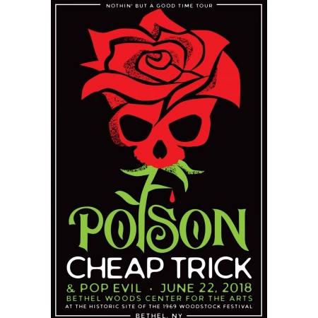 2018 Concert Posters-Poison with Cheap Trick