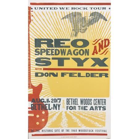 REO Speedwagon/STYX- Collectible Hatch Show Print