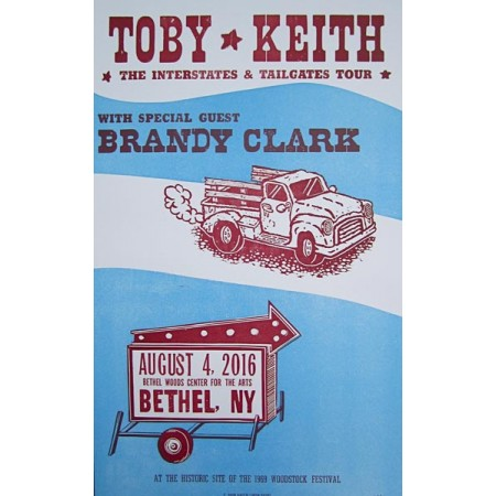 Toby Keith - Collectible Hatch Show Print