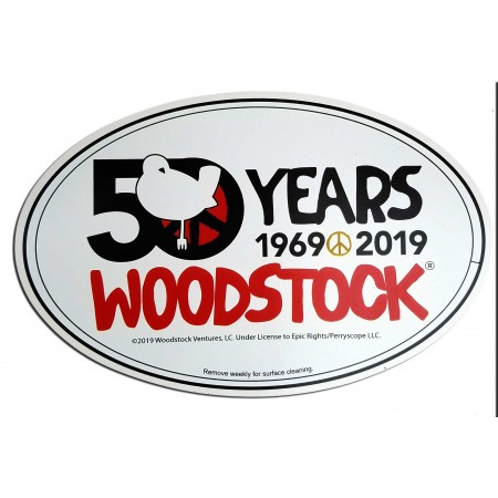 Woodstock 50th Anniversay Car Magnet