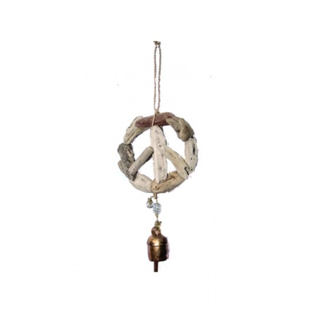 Driftwood Peace Bell Chime