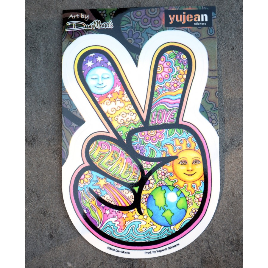 9587051868c8 Peace Hand Sign Sticker - Stickers - Collectibles Souvenirs ...
