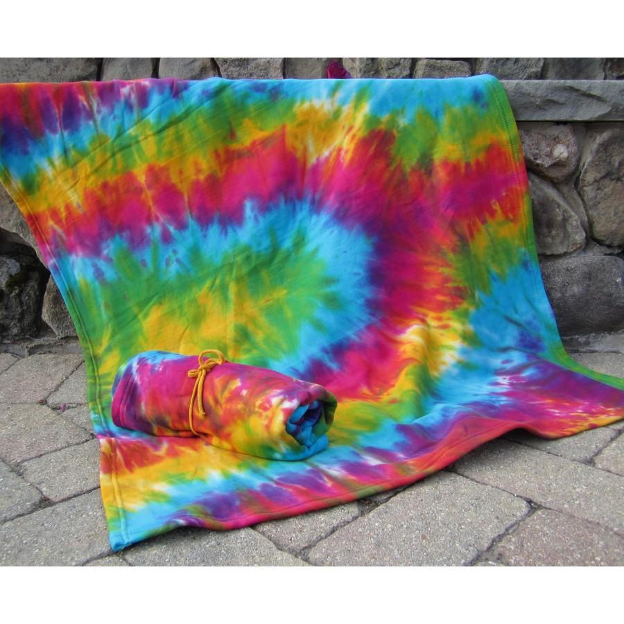 Tie dye fleece blanket groovy kids the bethel woods museum store tie dye fleece blanket ccuart Images