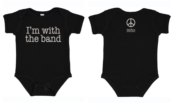 Onesie - I'm With Band, Black