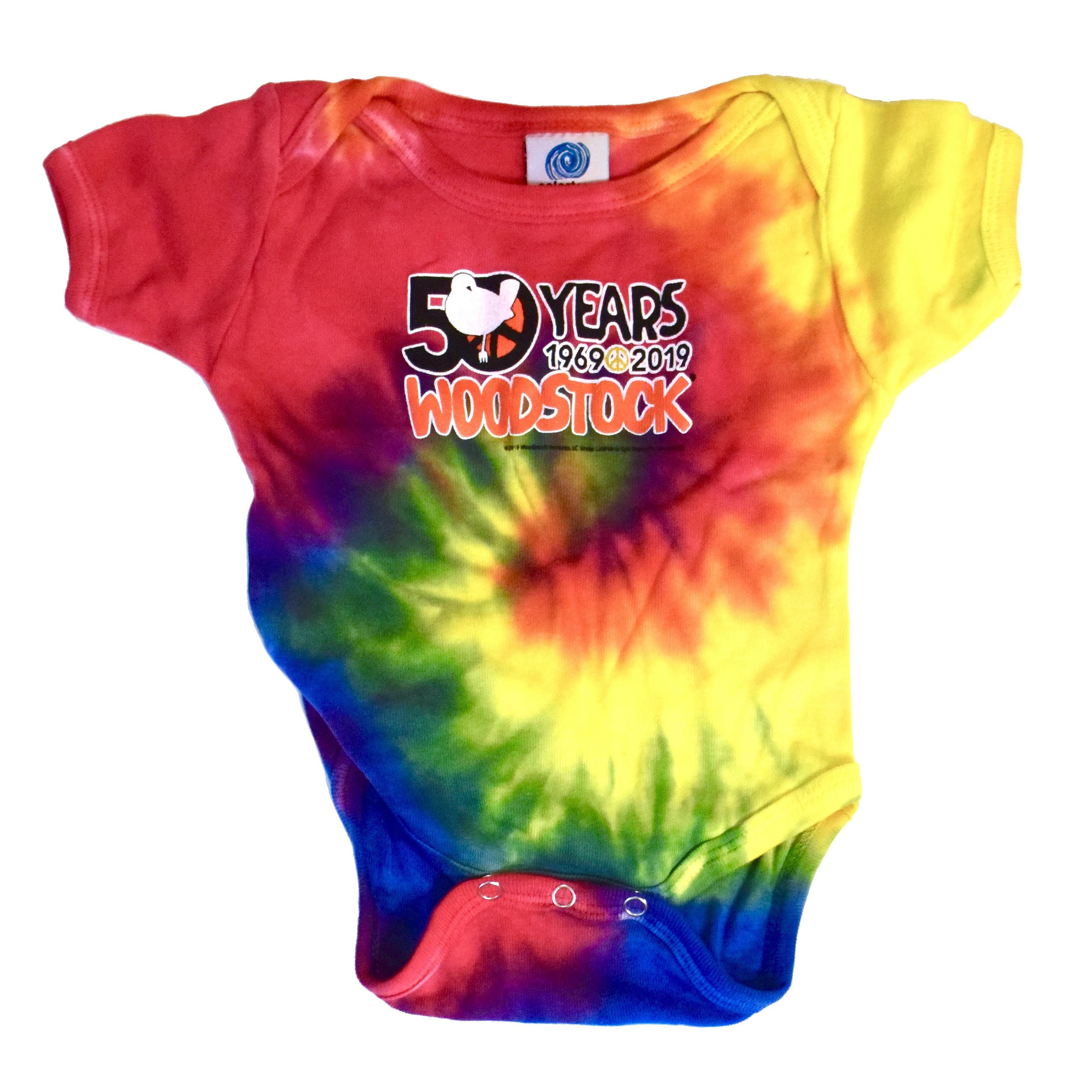 Woodstock 50th Tie Dye Onesie