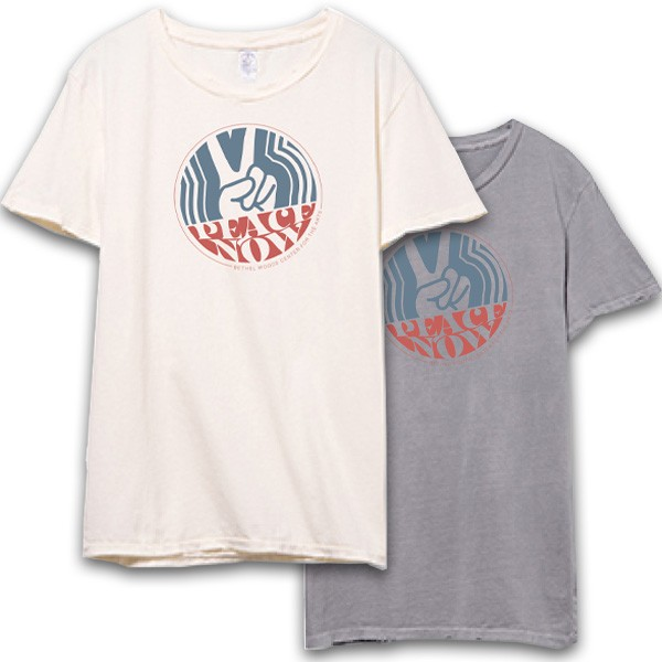 T-Shirt - Vintage Peace Now BW Tee