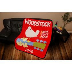 Woodstock Poster Throw  Blanket