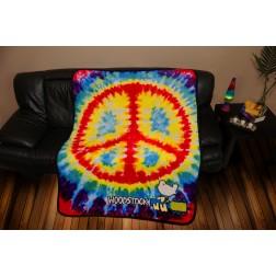 Peace Sign Tie Dye Fleece Blanket