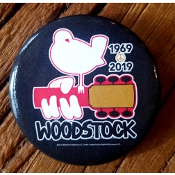 50th Anniversary Woodstock Button Black