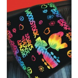 Woodstock Tie Dye 3 Days of Peace and Music Blanket