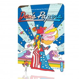 "Peter Max ""Dan's Papers"" Tin Sign"