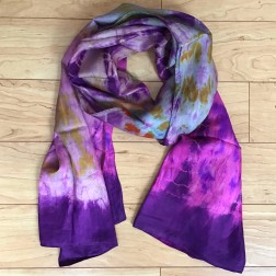 Tie-dye Silk Scarf Purple
