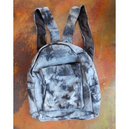 Tie-dye Canvas Backpack Blue