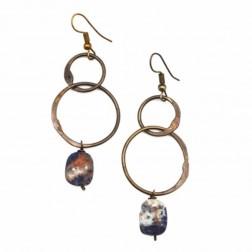 Sodalite & Cornelian Earrings