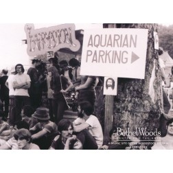 Original Woodstock Photo Postcard - Aquarian Parking Photo