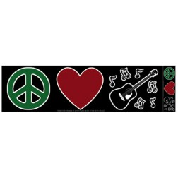 Peace Love & Music Bumper Sticker