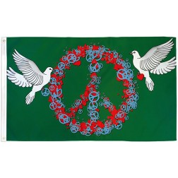 Dove Peace & Love Flag