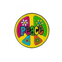 Colorful Peace Sign Enameled Pin