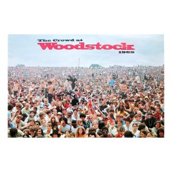 Original Woodstock Crowd Poster by Shelly Rusten