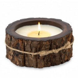 Tree Bark Pot Candles