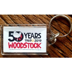 50th Anniversary Keychain  White