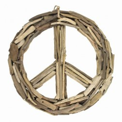 """DRIFTWOOD PEACE SIGN 15.5"""""""