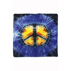 Tie Dyed Peace Sign Bandana