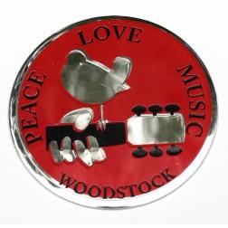 Large Metal Woodstock Sticker
