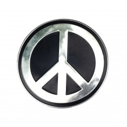 Large Metal Peace Sign Sticker