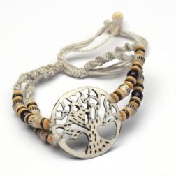 Life Force Bracelet - Bone and Hemp
