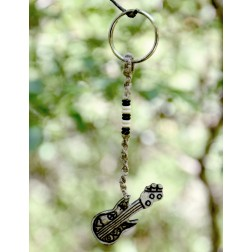 Bone & Hemp Guitar Keychain