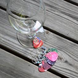 Guitar Pic Artisan Wine Charms