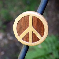 Wooden Peace Sign Magnet