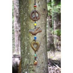 Peace Dove Heart Wind Chime
