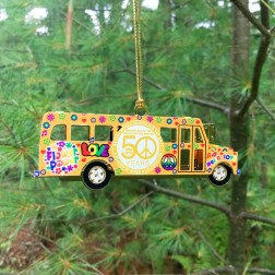 Metal 3D Bethel Woods Commemorative  Bus Ornament