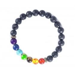Chakra Stone & Lava Bead Diffuser Bracelet
