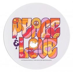 Woodstock Round Peace Sticker