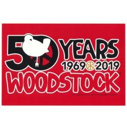 Woodstock Rectangle Red Sticker