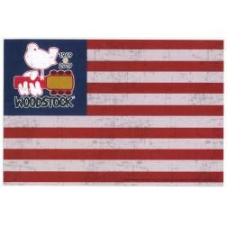 Woodstock Rectangle Flag Sticker