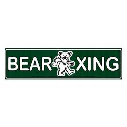"""Grateful Dead """"Bear Crossing"""" Bumper Sticker"""