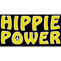 Hippie Power Bumper Sticker