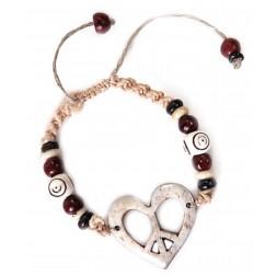 Carved Heart Bracelet