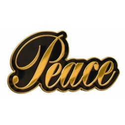 Sticker-Metal Script Peace