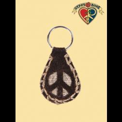 Keychain-Hemp & Suede Peace Keychain