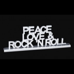 Peace Love & Rock & Roll Tabletop Display