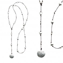 Necklace-Believe in Love Silver Pendant