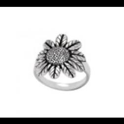 Ring - Sterling Silver Sunflower Ring