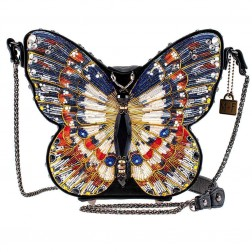Bag - In Flight Butterfly Beaded Bag